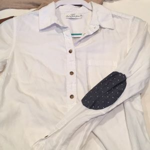 Button down with elbow patches
